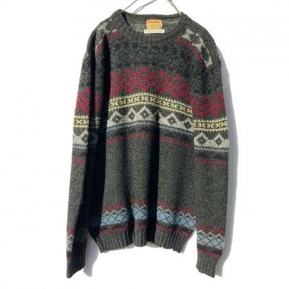 古着 通販 ヴィンテージ ノルディック セーター【Lancashire】【1960's~70's】Vintage Nordic Sweater