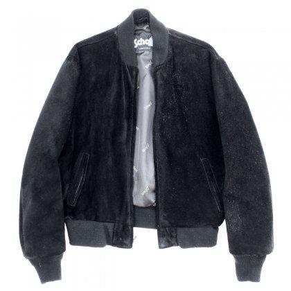 古着 通販 ショット【Schott】ヴィンテージ スウェード レザー ジャケット【1980s-】 シングル タイプ ブラック