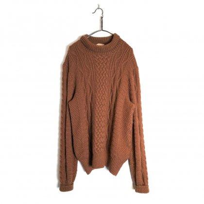 古着 通販 ヴィンテージ モックネック ケーブルニット フィッシャーマンニット【1970's】Vintage Mock neck Fisherman Sweater