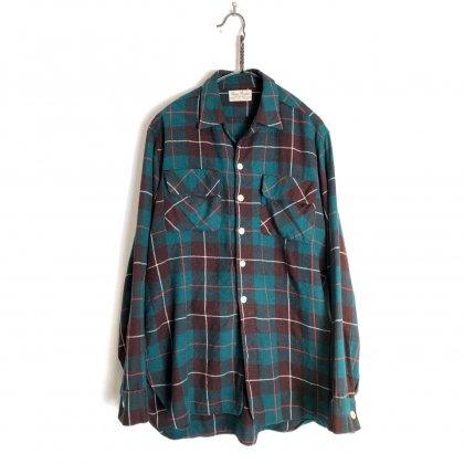 古着 通販 ヴィンテージ オープンカラー ウールシャツ【1960's】【Viyella】Vintage Open Collar Wool Shirt
