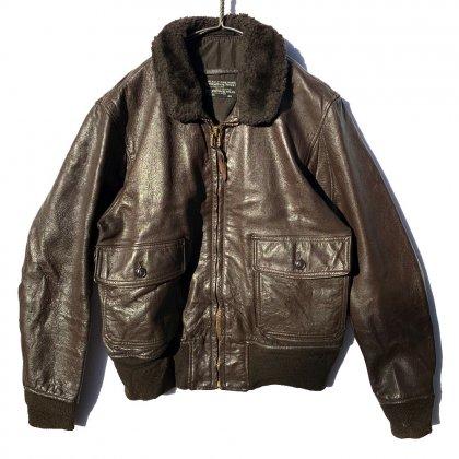 古着 通販 ヴィンテージ G-1 フライトジャケット レザージャケット 黒タグ【U.S.NAVY】【1970's】【STAR SPORTSWEAR】Vintage G-1 Leather Jacket