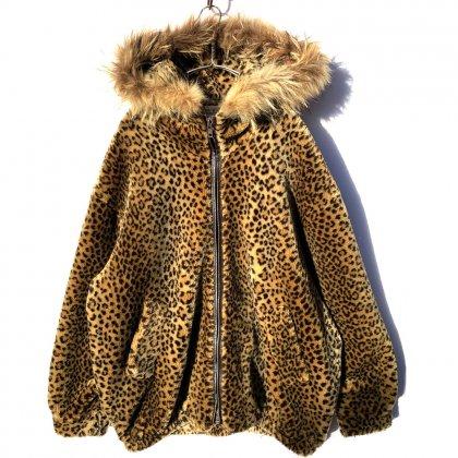 古着 通販 ヴィンテージ フェイクファー レオパード フーディー【1980's】Vintage Fake Fur Leopard Hoodie