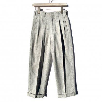 古着 通販 ヴィンテージ 2タック ウール カスリ トラウザーズ【1950's】Vintage 2-Tuck Wool Trousers