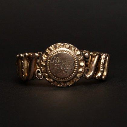 古着 通販 ヴィンテージ スウィートハート ブレスレット【1920'~】【DFB Co. - Carmen】【Gold Field Round Top Signet Type】
