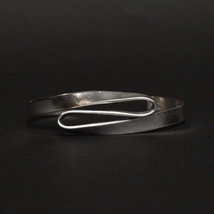 古着 通販 ナバホ ヴィンテージ バングル【gahe - STERLING】Coin Silver Twisted design