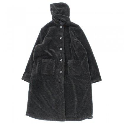 古着 通販 ロングパイル フリース リバーシブル コート パーカ【All American Comfort】【1990's-】BK