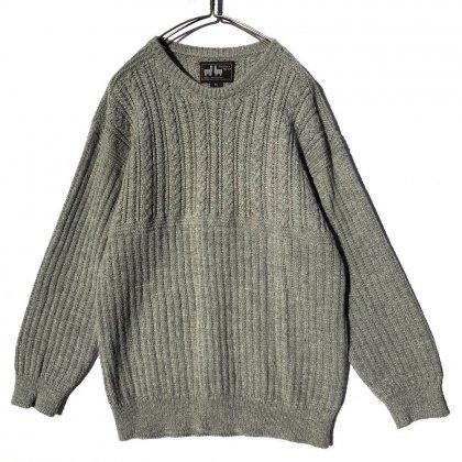 古着 通販 ヴィンテージ アルパカ クルーネック ケーブルニット【1990's】Vintage Alpaca Crew Neck Knit
