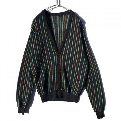 古着 通販 ヴィンテージ マルチストライプ ニット カーディガン【Unknown Brand】【1960's-】Vintage Cardigan