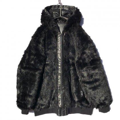 古着 通販 ヴィンテージ フェイクファー/レザー リバーシブル フーディー【1980's】Vintage Reversible Hoodie Fake Fur / Leather