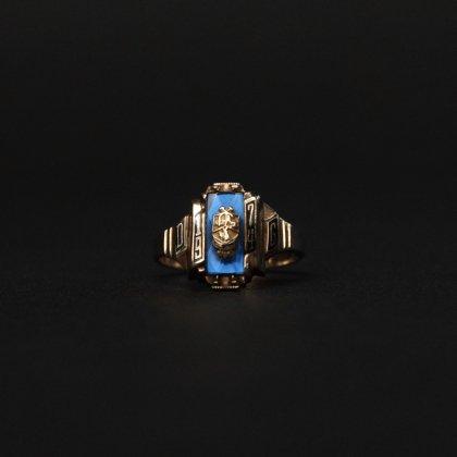 古着 通販 ヴィンテージ カレッジリング【HERFF JONES 10kt Gold】【1974's-】Blue Top & GLD Emblem