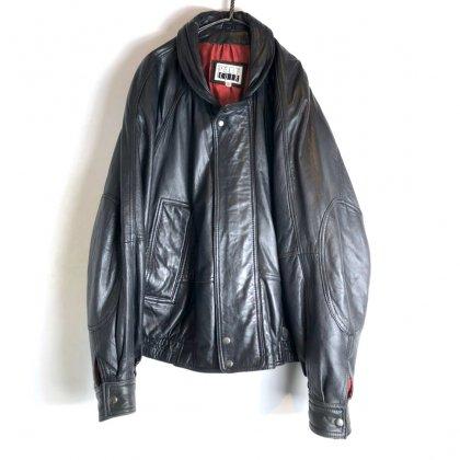 古着 通販 ヴィンテージ ビッグシルエット レザージャケット【1990's】【PELLE CUIR】Vintage Big Size Leather Jacket
