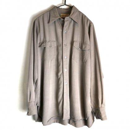 古着 通販 ヴィンテージ ギャバジン シャツ【1940's】【GAME & LAK】Vintage Rayon Gabardine Shirt