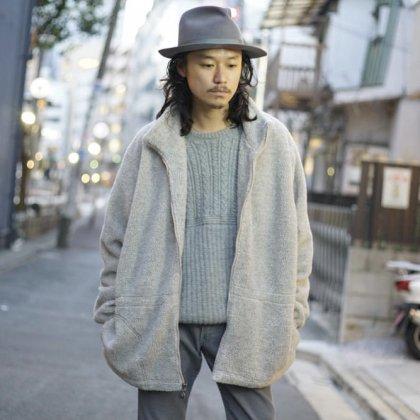 古着 通販 Fleece Jacket × Alpaca Sweater × Flare Corduroy Pants Style