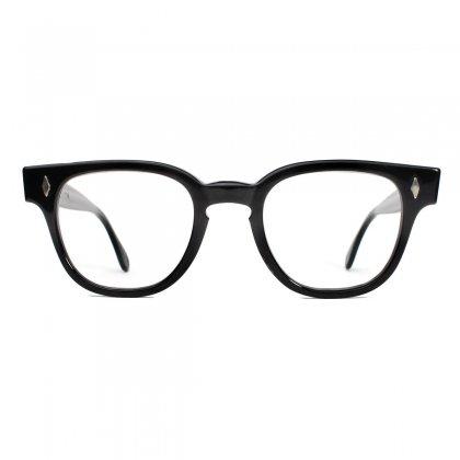 古着 通販 タート オプティカル ブライアン ヴィンテージ メガネ【Tart Optical】【Bryan】 【1950's-】ブラック 46-22 ダイヤヒンジ