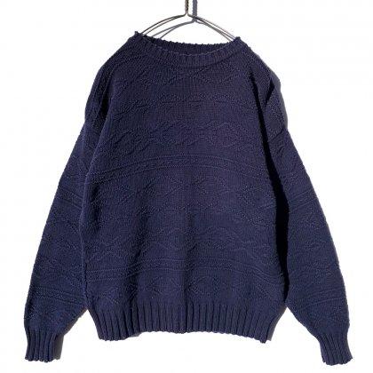 古着 通販 ヴィンテージ ビッグシルエット コットン クルーネック ニット【1990's】Vintage Crew Neck Knit