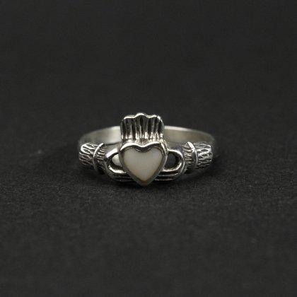 古着 通販 ヴィンテージ クラダーリング【925 Silver × Shell Top】Vintage Claddagh Ring