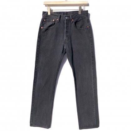 古着 通販 リーバイス 501 ブラック【Levis 501-0660 Made in Egypt】Vintage Black Denim Pants W-31 L-34