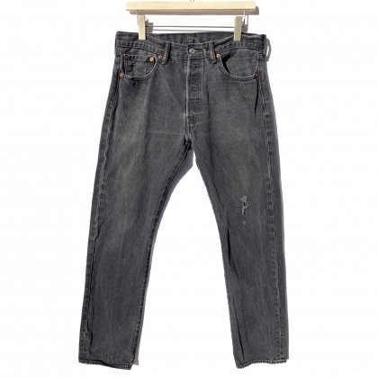 古着 通販 リーバイス 501 ブラック【Levis 501-0660 Made in Egypt】Vintage Black Denim Pants W-33 L-34
