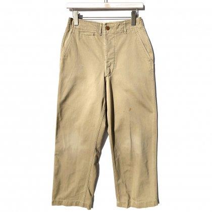 古着 通販 【U.S.ARMY】ミリタリー チノトラウザーズ 45カーキ【1940s-】Vintage Chino Trousers