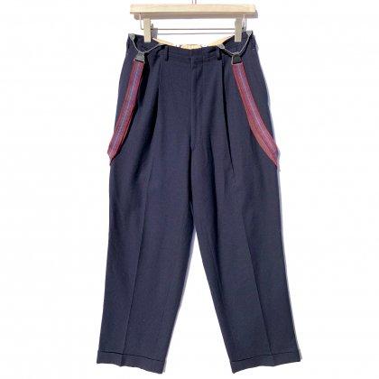 古着 通販 ヴィンテージ 2タック ストライプ  ウールトラウザーズ サスペンダー付き【1950's】Vintage 2-Tuck Wool Trousers