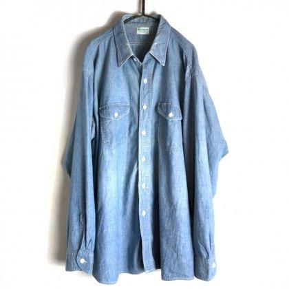 古着 通販 ヴィンテージ シャンブレーシャツ【1960's】【OSH KOSH】Vintage Big Silhouette Chambray Shirt