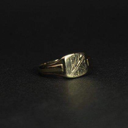 古着 通販 ヴィンテージ シグネット リング【1960's- Made in ENGLAND】【375 9ct Gold】Art Deco Design