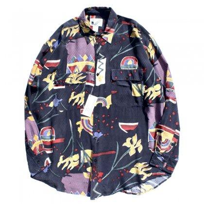 古着 通販 ヴィンテージ L/S  アートプリント シルク シャツ【GOOUCH】【1990's-】NOS - Dot Ethnic