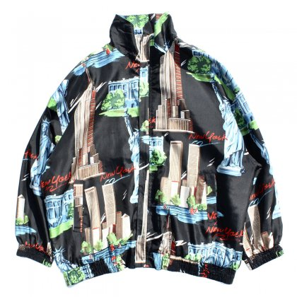 古着 通販 ヴィンテージ シルク ブルゾン ジャケット【FUDA】【1990's-】 New York Black