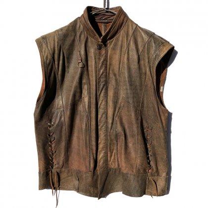 古着 通販 ヴィンテージ カットオフ レザーベスト【1980's】Vintage Cut Off Leather Vest