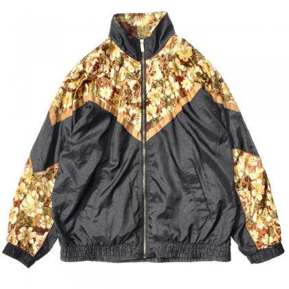 古着 通販 ヴィンテージ フラワーパターン ジャケット ブルゾン【BASIC EDITION】【1990's-】BK