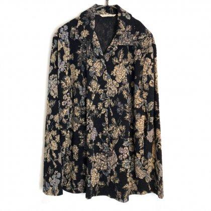 古着 通販 ヴィンテージ フラワーパターン ニットシャツ【1980's】Vintage Flower Print Knit Shirt
