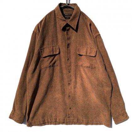 古着 通販 ヴィンテージ ビッグシルエット フェイクスエードシャツ【1990s-】Vintage Fake Suede Shirts