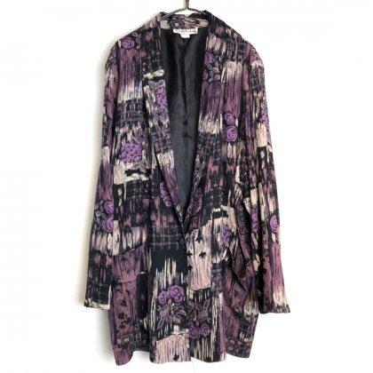 古着 通販 ヴィンテージ ボタニカルパターン レーヨン ライトジャケット【1980's-】【DRESS BARN】【GUAYABERA】Vintage Light Jacket