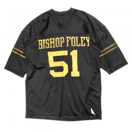 古着 通販 チャンピオン ヴィンテージ フットボール T シャツ【Champion】【BISHOP FOLEY】【1970's-】Black Mesh