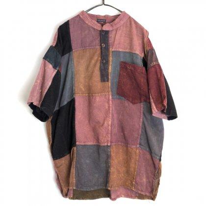 古着 通販 ヴィンテージ S/S パッチワーク コットンシャツ【1980's-】Vintage S/S Patch Work Shirt