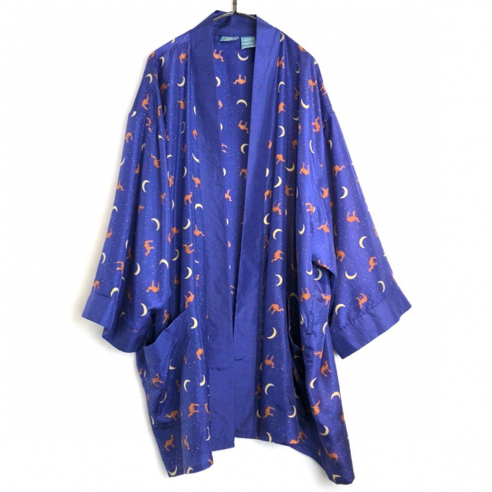 古着 通販 ヴィンテージ シルクガウン【1990's-】【CAMEL】Vintage All Silk Short Robe