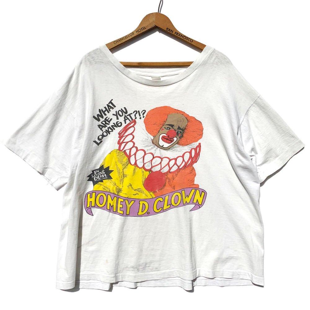 古着 通販 イン・リビング・カラー【In Living Color】ヴィンテージ プリント Tシャツ【Homey D. Clown】【Early 1990s-】Vintage T-Shirt