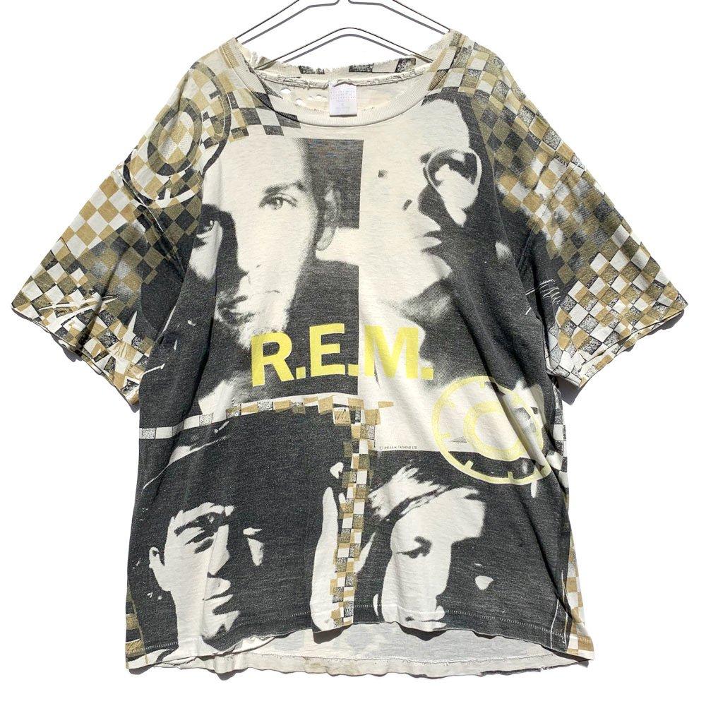 古着 通販 【R.E.M feat Krs One / Radio Song】ヴィンテージ Tシャツ 総柄【1991s-】Vintage T-Shirt
