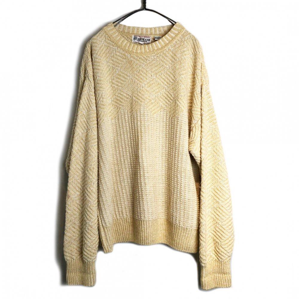 古着 通販 ヴィンテージ リネン サマーニット【1990's】【HEART LAND】Vintage Crewneck Summer Sweater