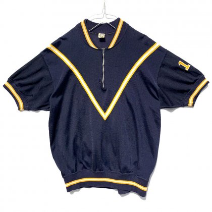 古着 通販 ヴィンテージ ハーフジップ フットボール ナンバリング ゲームシャツ【1960s】Vintage Game T-Shirt