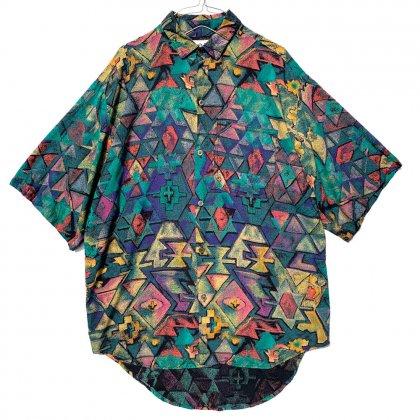 古着 通販 ヴィンテージ アートプリント S/S レーヨンシャツ【1990's】Vintage Rayon Shirt