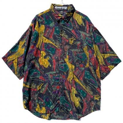 古着 通販 ヴィンテージ S/S アートプリント レーヨンシャツ【1990's】Vintage Rayon Shirt