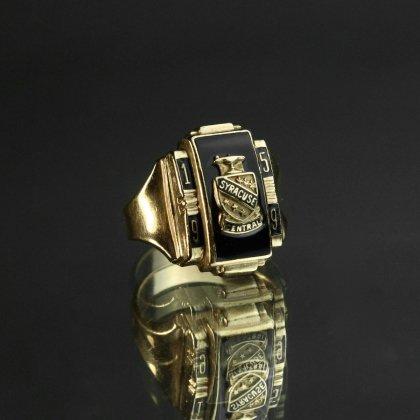 古着 通販 ヴィンテージ カレッジリング【1959s】【DIEGES&CULST 10Kt Gold】Onix × Emblem