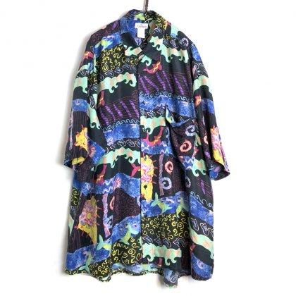 古着 通販 ヴィンテージ S/S シルクシャツ【1980's】【Peter Et Jon】Vintage Short Sleeve Silk Shirt