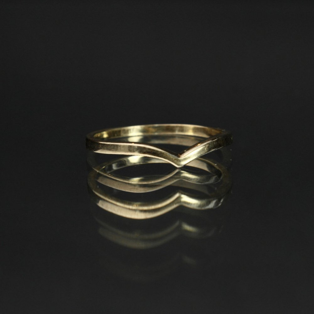 古着 通販 ヴィンテージ ウィッシュボーン リング【10kt Gold Sold - England】Wishbone Wave