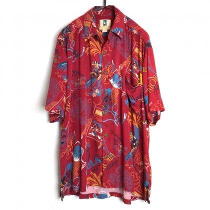 古着 通販 ヴィンテージ レーヨン アロハシャツ【1980's】【KAHARA】Vintage Rayon Hawaiian Shirt