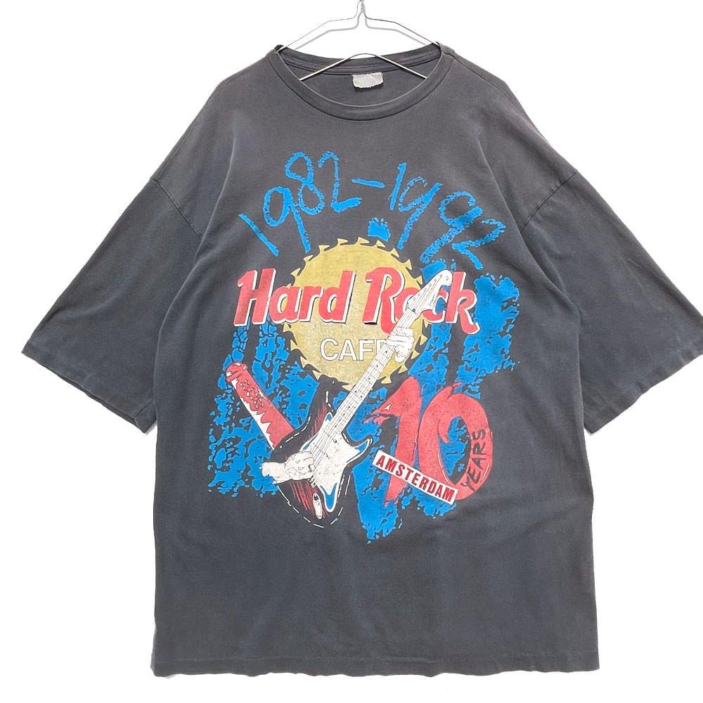 古着 通販 ハードロックカフェ【Hard Rock Cafe Amsterdam】ヴィンテージ アムステルダム Tシャツ 【1992's】Vintage Rare Print T-Shirt