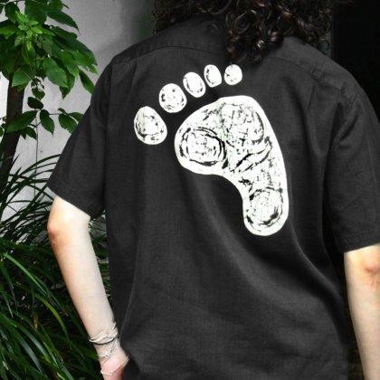 古着 通販 Recommend Black Short Sleeve Print Shirts
