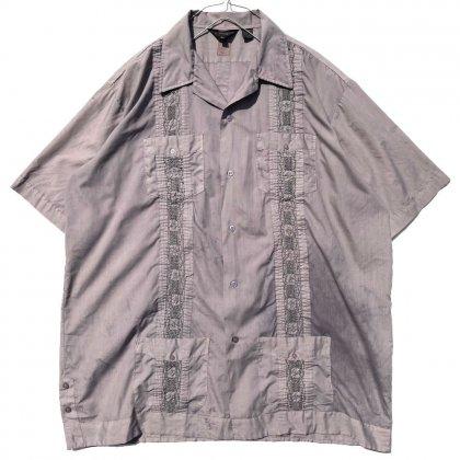 古着 通販 【pimpstick×西染】ヴィンテージ ビッグシルエット キューバシャツ【1980's】Vintage Handdyed Cuba Shirt