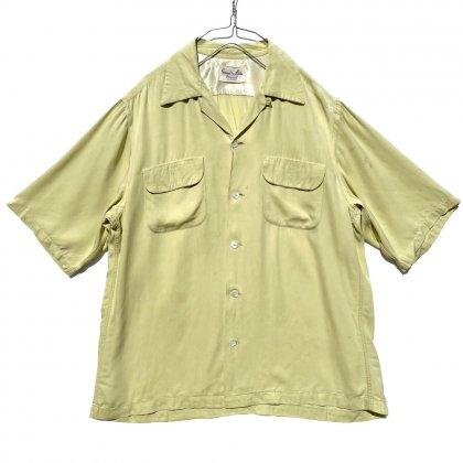 古着 通販 【Game and Lake】ヴィンテージ S/S レーヨン ギャバジン オープンカラーシャツ【1950's】Vintage Open Collar Shirts